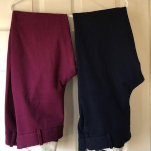 2 pair JCrew  Minnie pants.